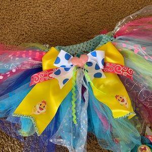 Bottoms - Baby Shark Tutu & matching hair bow + mommy shark